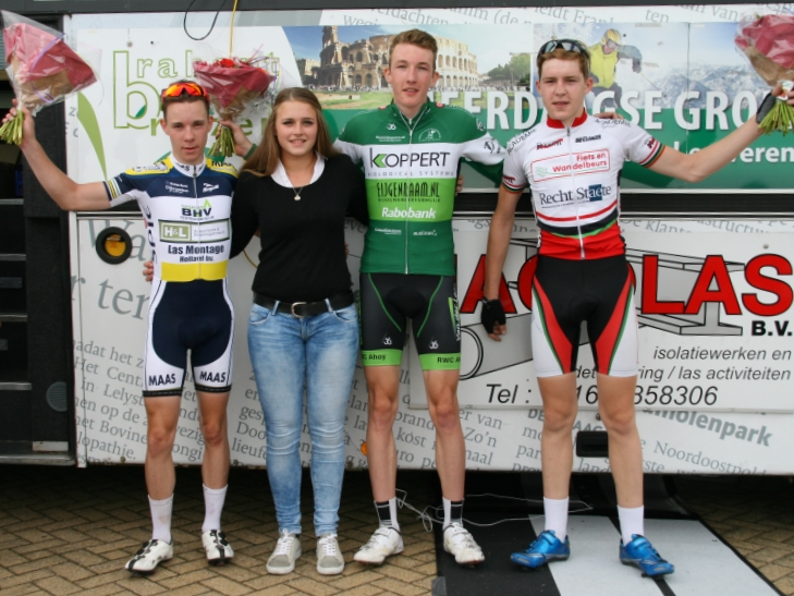 Junioren podium Ronde van Hank 2015